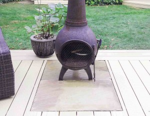 stonetree chiminea decking