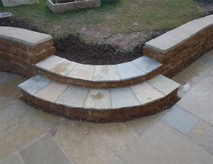curved paving steps melton mowbray
